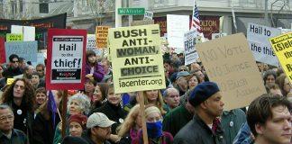 μαζικές διαδηλώσεις Μπους