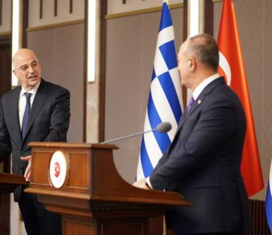 Ελληνοτουρκικά, σύγκρουση, σχέσεις, αλληλεγγύη, φιλία, Δένδιας, Τσαβούσογλου