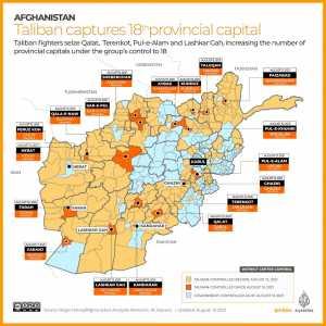 Οι Ταλιμπάν κατέλαβαν τη μια επαρχιακή πρωτεύουσα μετά την άλλη / Εικόνα: Al Jazeera